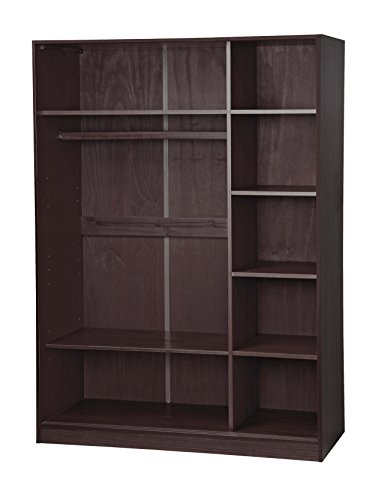 100 solid wood 3 sliding door wardrobe armoire closet by for 1 door wardrobe with shelves