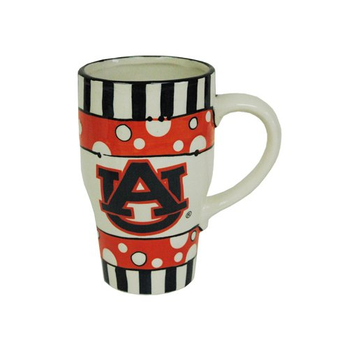 (Game Day Outfitters NCAA Auburn Tigers Ceramic Hand Painted Mug, One Size/20 oz, Multicolor)