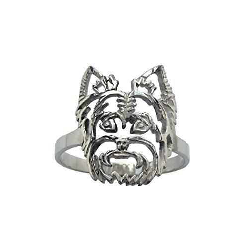 H&H jewellery Yorkshire Terrier bague d'argent - 56; Bigouterie d'argent - Bague (titre 925/1000)