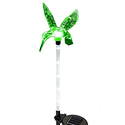 Solarmks Butterfly Solar Lights Outdoor Color Changing Garden Butterfly Lights with a Purple LED Light Stake