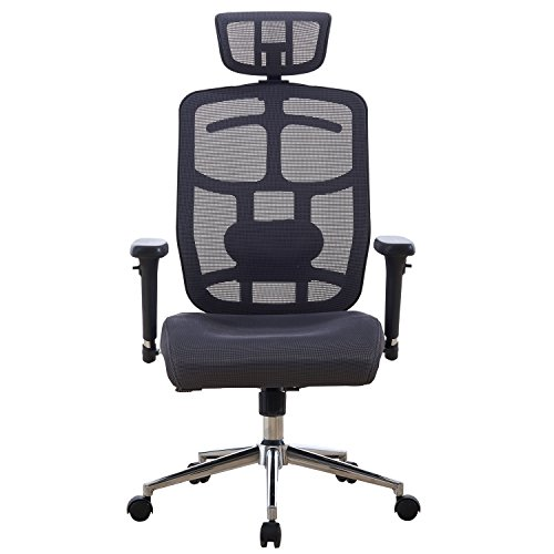 Ergonomic Computer Office Chair High-Back, Grey by LSCUKOO