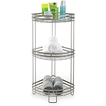 BINO U0027Lafayetteu0027 Rust Resistant 3 Tier Corner Spa Tower, Nickel