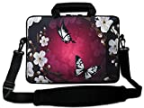 "Nice Butterful 10"" Laptop Shoulder Sleeve Bag Case+Outside Handle For 10.1"" Acer Iconia"