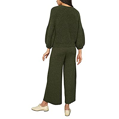 Mara Hoffman Women's Nellie High Waisted Cropped Pant, Olive, X-Small: Clothing