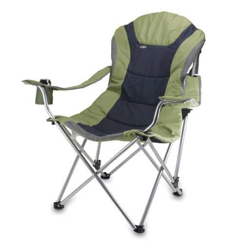 Picnic Time Portable 'Reclining Camp Chair', Sage/ Gray (Canvas Reclining Recliner)
