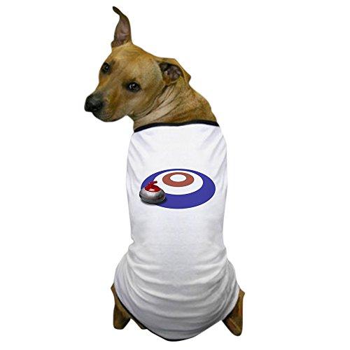 CafePress - Curling Dog T-Shirt - Dog T-Shirt, Pet Clothing, Funny Dog Costume ()