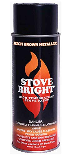 Stove Bright High Temp Paint - Rich Brown Metallic