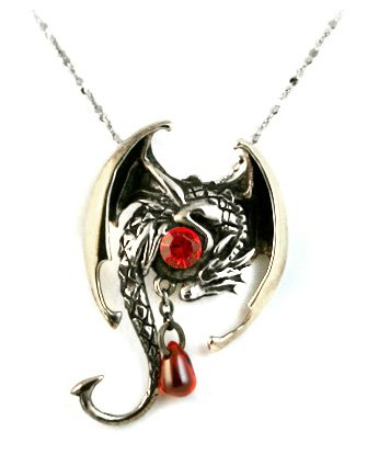Amazon fafnir red crystal dragon sterling silver pendant fafnir red crystal dragon sterling silver pendant necklace aloadofball Gallery