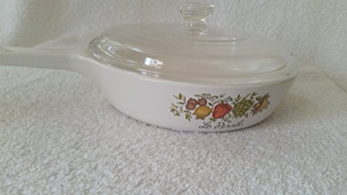 Vintage Corning Ware Le Persil Spice of Life Sauce Skillet Pan w/ Pyrex Lid