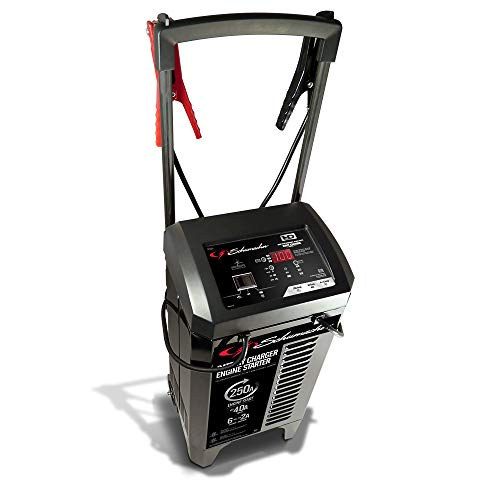 Schumacher SC1325 6/12V Wheeled Fully Automatic Battery Charger and 40/250A Engine Starter