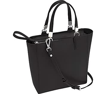 b7233688db6db Amazon.com | Royce Leather RFID Blocking Mini Tote Cross Body Bag in Saffiano  Leather Travel, Black One Size | Travel Totes