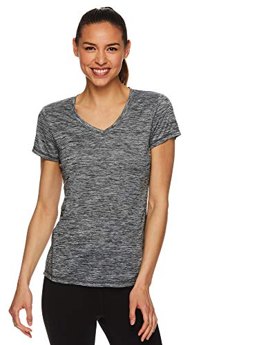 (HEAD Women's Short Sleeve Workout Scoop Neck T-Shirt - Performance Tennis Crew Neck Activewear Top - Emily Black, X-Small)