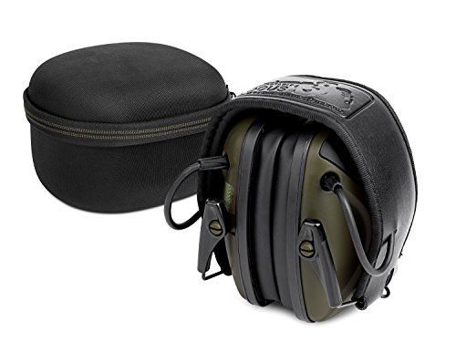Electronic Shooting Earmuff [ Comes with Hard Travel Storage Carrying Case Bag], Awesafe GF01+ Noise Reduction Sound Amplification Electronic Safety Ear Muffs and Storage Case