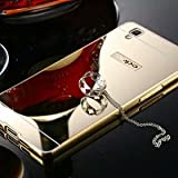Vinnx-Luxury-Metal-Bumper-Acrylic-Mirror-Back-Cover-Case-For-Oppo-f1-By-VinnxGolden