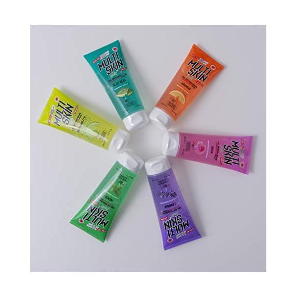 IPEA Gel Igienizzante Detergente Profumato Per Mani Multiskin Flacone Portatile Con Soluzione Antibatterica 74% Alcool - Fragranza, Lavanda, 200 Millilitro 7 spesavip