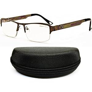 D886-cc Designer Eyewear Clear Lens Eyeglasses Sunglasses (O1178B Gunmetal/Black-Clear, clear)