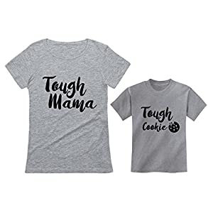 Tough Mama Tough Cookie Mother & Son Daughter Matching Set Mom & Child Shirts