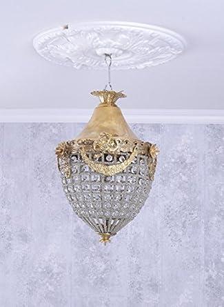 H/ängelampe Barock Deckenl/üster Kristall Leuchte Deckenleuchte Shabby M