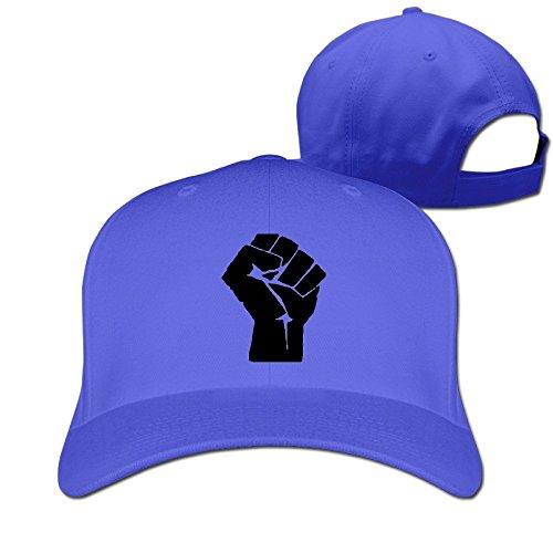 Yesher Fashion Black Power Baseball Cap - Adjustable Hat - RoyalBlue