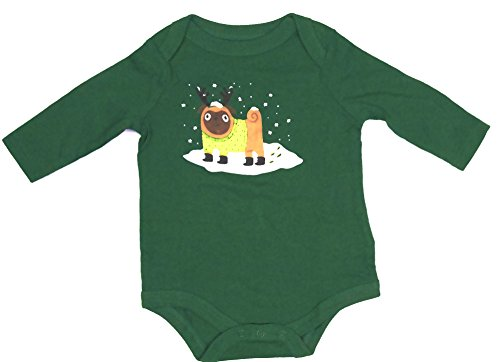 'Puppy Pug' Snow Day Fun Long-sleeve Bodysuit Onesie, Boys (9 Months)