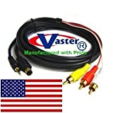 10 Ft S-Video Composite AV Cable with Chip Support LCD Plasma HDTV