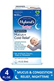 Baby Cold Medicine, Nighttime Infant Cold and Cough Medicine, Decongestant, Hyland's Baby Mucus and Cold Relief, 4 Fluid Ounce (Packaging May Vary)