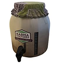 Kombucha Tea Home Brew 2.2 GALLON STAINLESS STEEL CONTINUOUS BREWER - Comes With Jar, Custom Elastic Cover, Spigot, and Thermometer - Brew Premium Organic Kombucha Tea In Your Own Home - Save Hundreds of Dollars vs. Buying Pre-bottled Kombucha (without Scoby Culture)