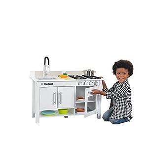 KidKraft Little Cook's Work Station Kitchen, White (53407)