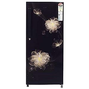 Haier 195 L 4 Star Direct-Cool Single Door Refrigerator (HRD-1954CKB-E, Black Blossom)