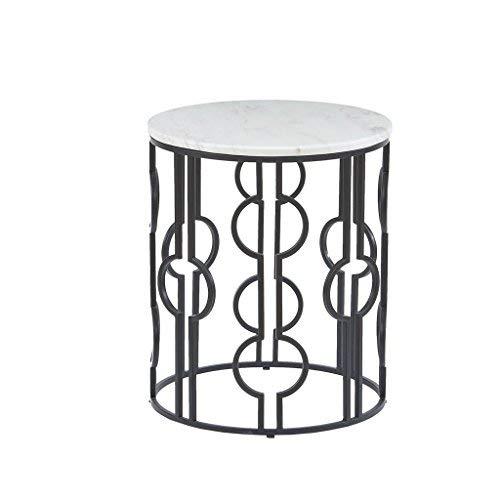 Madison Park MP120-0595 Isaac End Table Bronze/White [並行輸入品] B07N4LR3TY