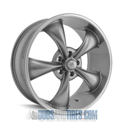 Ridler Style 695 695 Grey Wheel with Machined Lip (20x8.5\