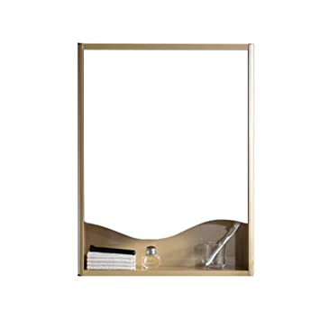 Mirrors Wall Mounted Mirror Bathroom Mirror With Shelf Home Vanity