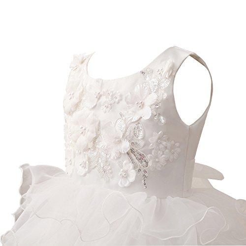 Erosebridal Blumenmädchenkleider Rüschen Applique Beadings Ersteskommunion Kleider