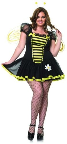 Plus Size Bumble Bee Costumes (Daisy Bee Plus Size Adult Costume - Plus Size 1X/2X)