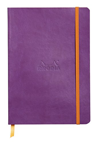 Rhodiarama Dot 5.8 x 8.3 inch Purple Notebook