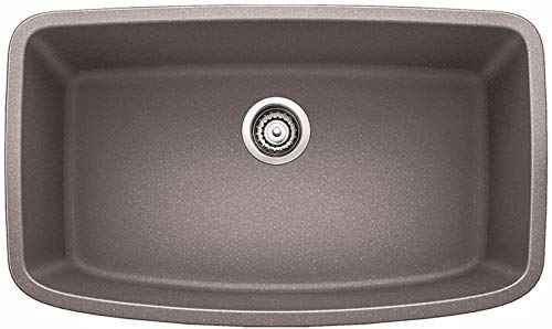 - Blanco 441775 Valea Super Single Bowl Sink, Metallic Gray