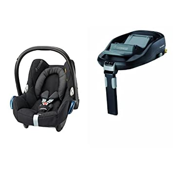 Maxi-Cosi Cabriofix Car Seat + FamilyFix Base (Black Raven): Amazon ...