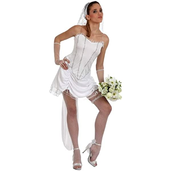 TOYLAND - Disfraz de novia sexy para mujer, talla M/L (10541 ...
