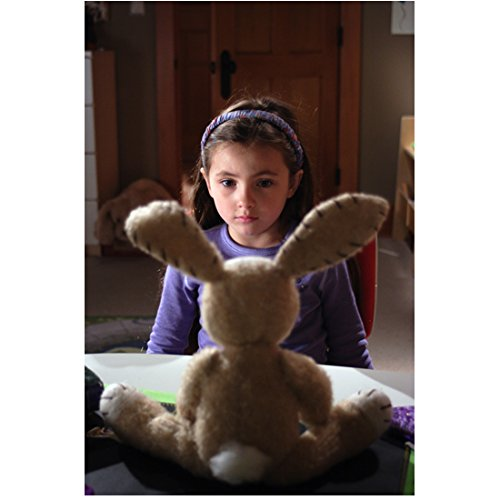 The Aftermost Mimzy Rhiannon Leigh Wryn as Emma Wilder Staring at Stuffed Bunny 8 x 10 inch photo