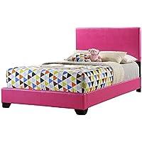 Global Furniture Full Upholdtered Bed Pink