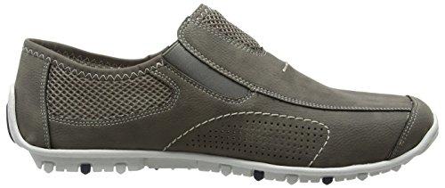 Rieker 08956 Loafers & Mocassins-Men, Men's Loafers Grey - Grau (Cement/Dust / 40)