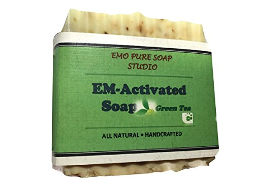 Soap Bar 100% Organic.With Activated EM, Coconut, Olive, Lavender Essential Oil. Face Soap or Body Soap. For Men, Women & Teens. Chemical Free. 5oz Bar. 1 pac ()