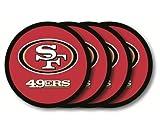 NFL San Francisco 49Ers Vinyl Coaster Set (Pack of 4)