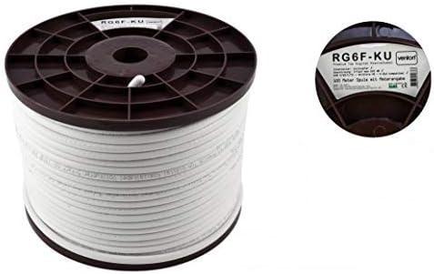 Cai Sky Koaxial Antennenkabel Ct100 Wf100 Schwarz Weiß Braun Kabel 30m Webro
