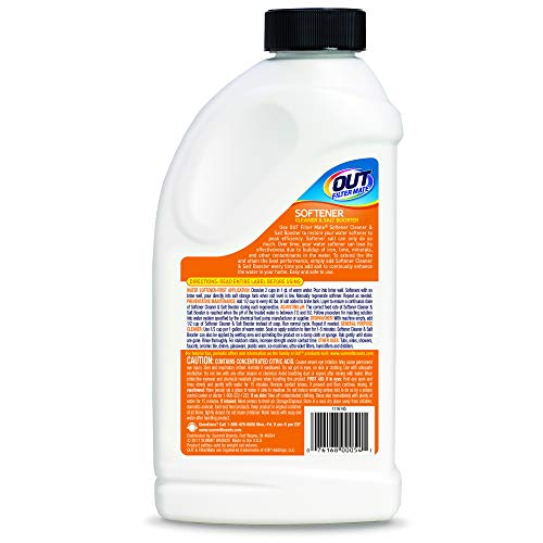 OUT Filter MateWater Softener Cleaner and Salt Booster Powder, 24 oz Bottle, Twin