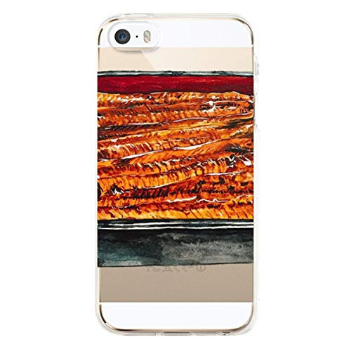 Eel Skin Cell Phone Case - Wexzcc iPhone 5 5S Case,EEL Rice Slim Shockproof Flexible Soft Silicone Rubber TPU Bumper Cover Skin Case for iPhone 5 5S SE