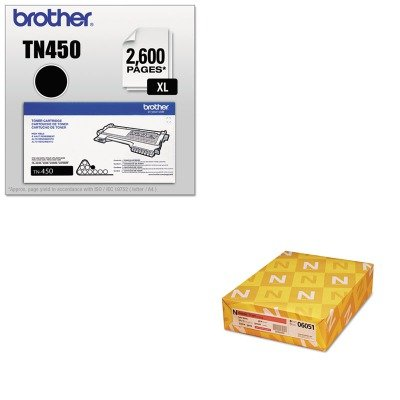 KITBRTTN450NEE06051 - Value Kit - Neenah Paper Classic Linen Stationery Writing Paper (NEE06051) and Brother TN450 TN-450 High-Yield Toner (BRTTN450) by Neenah
