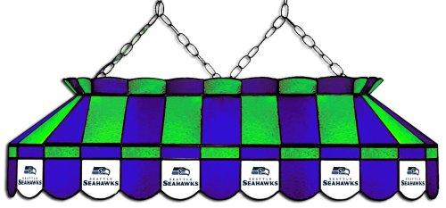 Imperial Officially Licensed NFL Merchandise: Tiffany-Style Stained Glass Billiard/Pool Table Light, Seattle Seahawks