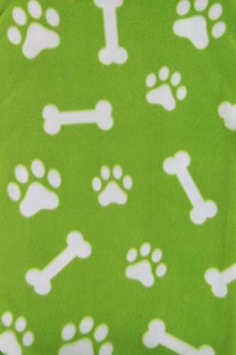 Firefly Collection Fleece Pet Blanket/Throw, Oversized and Super Plush - Let your Dog, Cat, Puppy Snuggle Up All Year Long – Ideal for the Home & Travel, Adorable Paw Print and Bone Design- 59 x 63'' by Firefly Collection (Image #6)