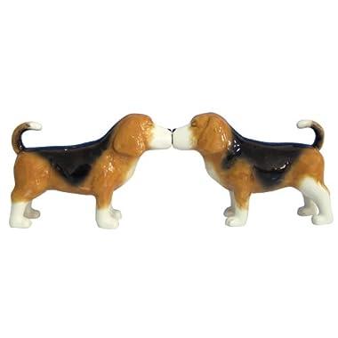 Westland Giftware Mwah Magnetic Beagles Salt and Pepper Shaker Set, 2-1/2-Inch